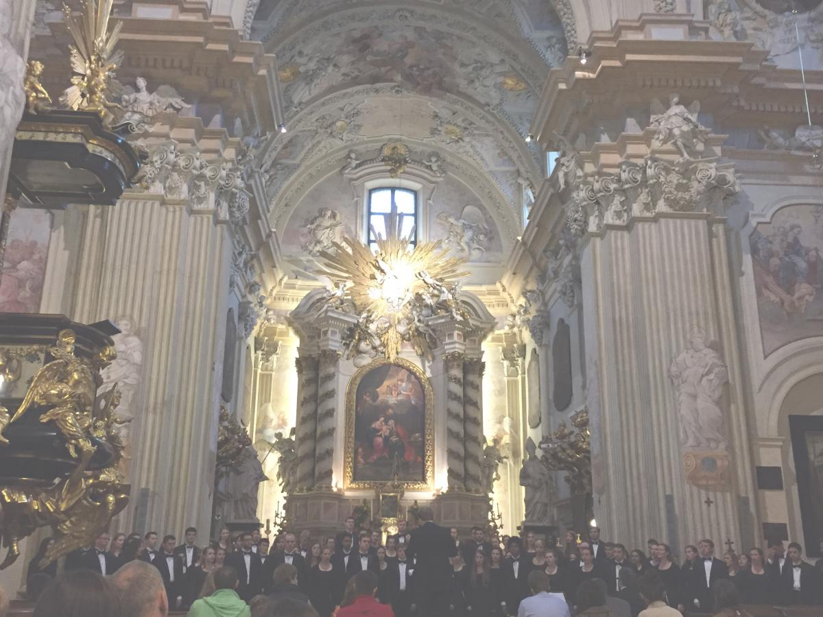 UVa University Singers perform on tour in St. Anne's, Krakow
