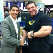 Michael Puri with bodybuilder Blair Mone
