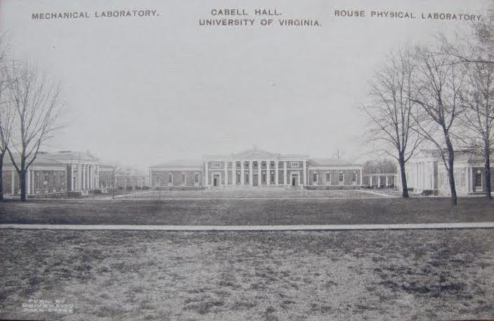 Postcard of Cabell Hall prior to 1907